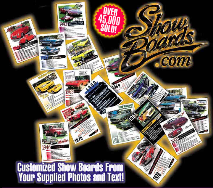 Wwwshowboardscom Americas Custom Car Show Board Site Over - Car show boards